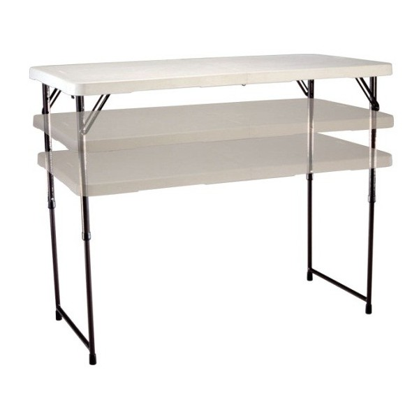 Lifetime 24 Pack 4 Ft Adjustable Height Tables With