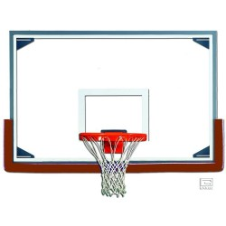"Gared 48"" x 72"" Tall Glass Backboard with Steel Frame (RG)"