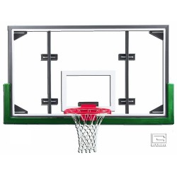 "Gared 42"" x 72"" Conversion Glass Backboard with Steel Frame (ARG)"