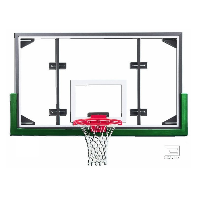 Gared 42 X 72 Conversion Glass Backboard With Steel Frame