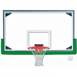 "Gared Economy 42"" x 72"" Regulation Glass Backboard with Aluminum Frame (AFRG42E)"