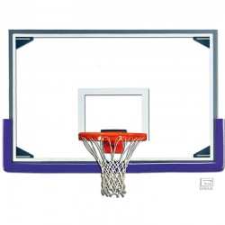 "Gared 48"" x 72"" Tall Glass Backboard with Aluminum Frame (AFRG48)"