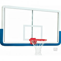 "Gared 42"" x 72"" Outer Limit Pro Glass Backboard with Aluminum Frame, Four Corner Mount with Center Strut (3010RG)"