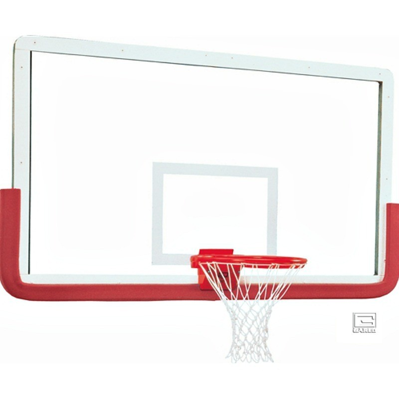 "Gared 42"" x 72"" Outer Limit Pro Glass Backboard with Aluminum Frame, Center Mount without Center Strut (3011RG)"