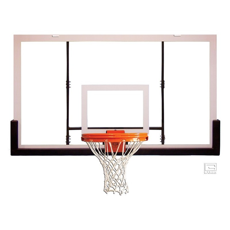 "Gared 42"" x 72"" Polycarbonate Rectangular Backboard with Aluminum Front (BB72P50)"