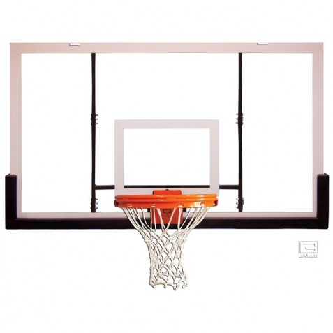 "Gared 42"" x 72"" Acrylic Rectangular Backboard with Aluminum Front (BB72A38)"