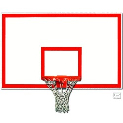 "Gared 42"" x 72"" Fiberglass Rectangular Backboard with Orange Target & Border (1342B)"