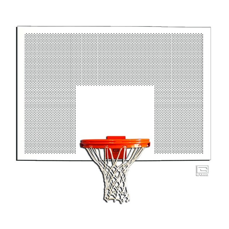 "Gared 42"" x 60"" Perforated Steel Rectangular Backboard with Target & Border (1260PSB)"