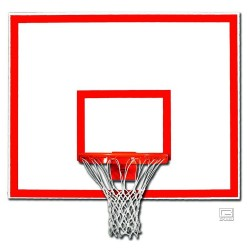 "Gared 42"" x 60"" Steel Rectangular Backboard with Target & Border (1260B)"