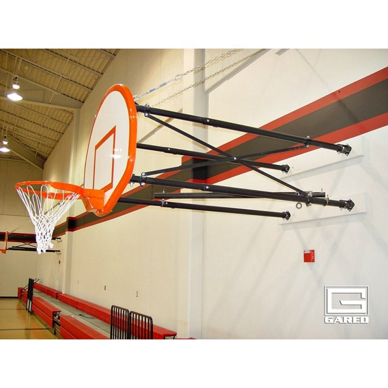 Gared Side-Fold Wall Mount Series, 4-6' Extension, Fan-Shape Board for Adjust-a-Goal (2500-4060A)