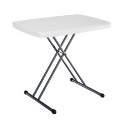 Lifetime 30 x 20 in. Personal Adjustable Height Folding Table 40 Pack (White) 8241