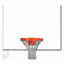 "Gared 42"" x 60"" White Steel Rectangular Backboard (1260)"