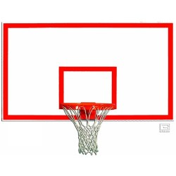 "Gared 42"" x 72"" Wood Rectangular Backboard with Target & Border (1442B)"
