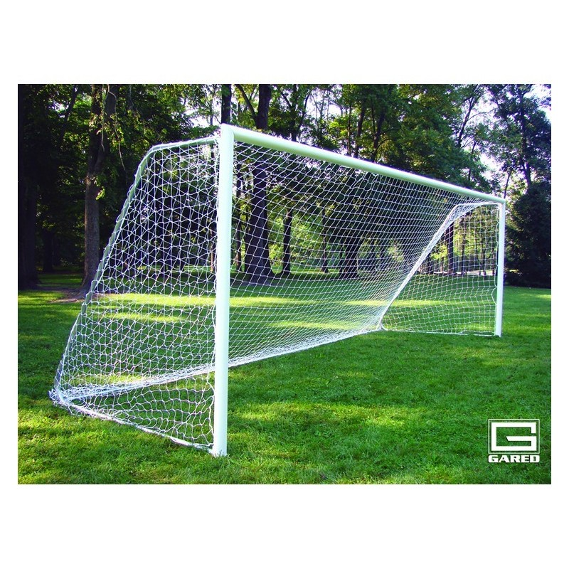 Gared All-Star II Touchline™ Soccer Goal, 8' x 24', Permanent, Round Frame (SG32824)