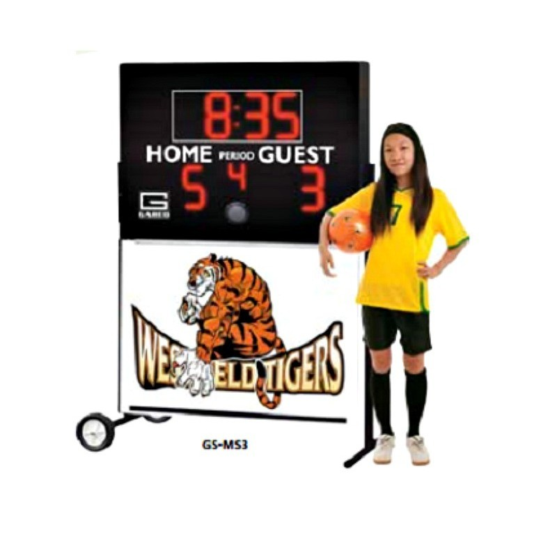 "Gared ALPHATEC™ 78"" x 52"" Portable Soccer Scoreboard (GS-MS3)"