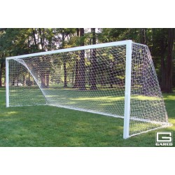 Gared Touchline Striker Soccer Goal, 8' x 24', Permanent, Square Frame (SG12824S)