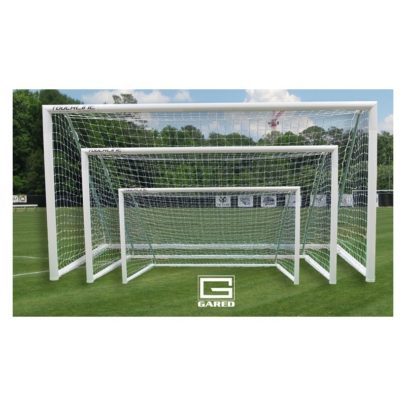 Gared Touchline Striker™ Soccer Goal, 7' x 21', Permanent, Square Frame (SG12721S)