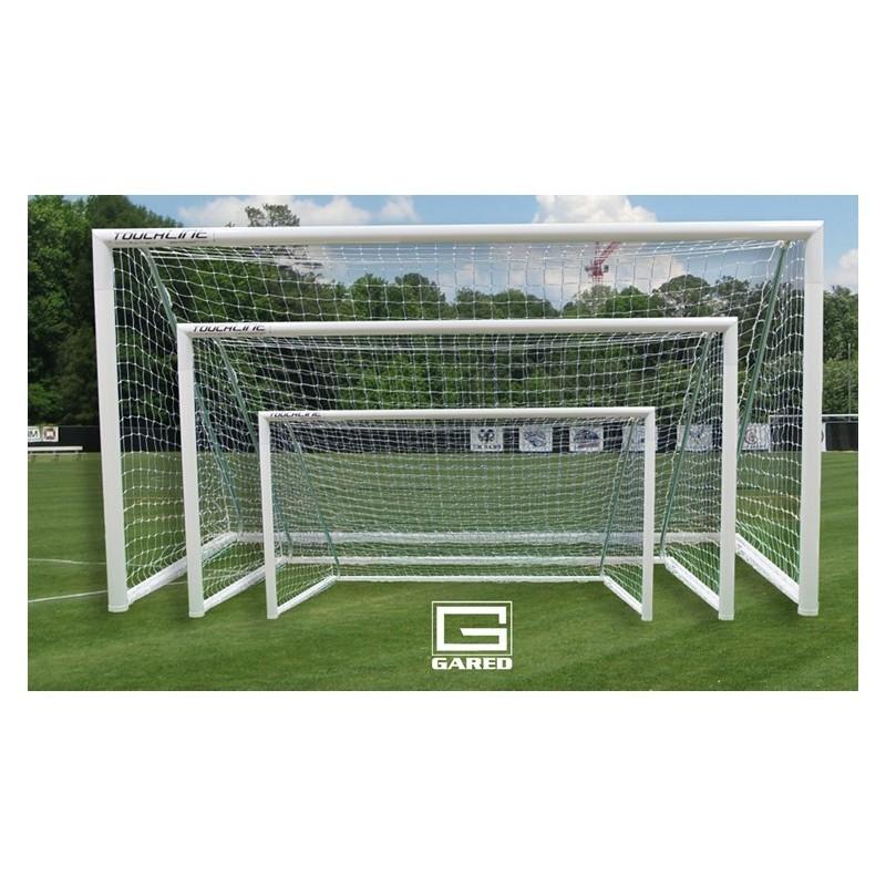 Gared Touchline Striker™ Soccer Goal, 8' x 24', Permanent, Round Frame (SG32824S)