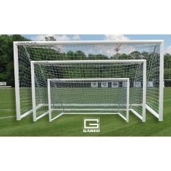 Gared Touchline Striker™ Soccer Goal, 7' x 21', Permanent, Round Frame (SG32721S)