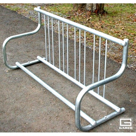 Gared 5' Traditional Single-Sided Bike Rack, 4 Bikes (BRT-5S)