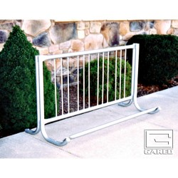 Gared  10' Modern Single-Sided Bike Rack, 9 Bikes (BRM-10S)