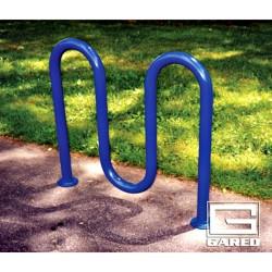 "Gared 3' 3"" Loop-Style Bike Rack, 5 Bikes, Powder Coated (BRL2-PC)"