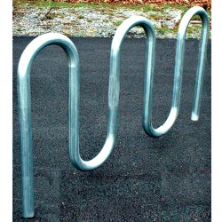 "Gared 5' 3"" Loop-Style Bike Rack, 7 Bikes, Powder Coated (BRL3-PC)"