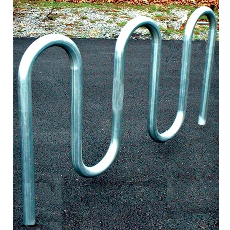 "Gared 7' 3"" Loop-Style Bike Rack, 9 Bikes (BRL4)"