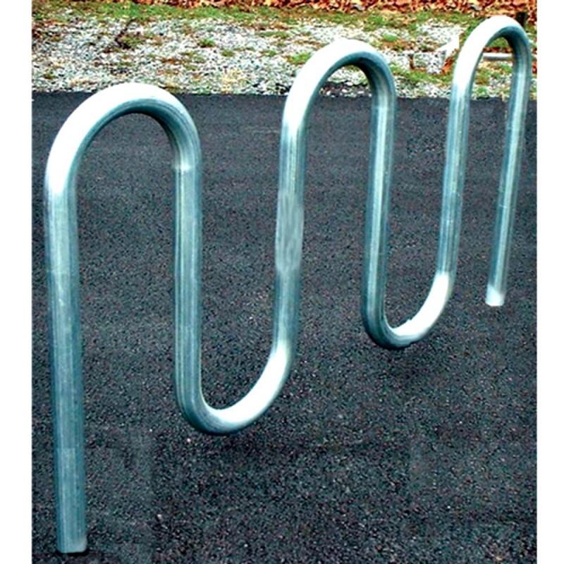 "Gared 7' 3"" Loop-Style Bike Rack, 9 Bikes, Powder Coated (BRL4-PC)"