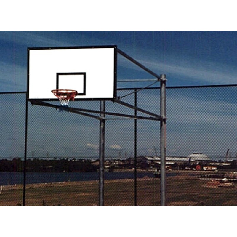 Gared Side Fold Outdoor System with Fiberglass Backboard with Black Border & Target (BSF46)