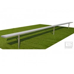 "Gared 7' 6"" Spectator™ Bench without Back, Inground (BE08IG)"