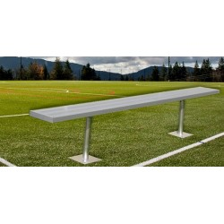 """Gared 7' 6"""" Spectator™ Bench without Back, Surface Mount (BE08SM)"""
