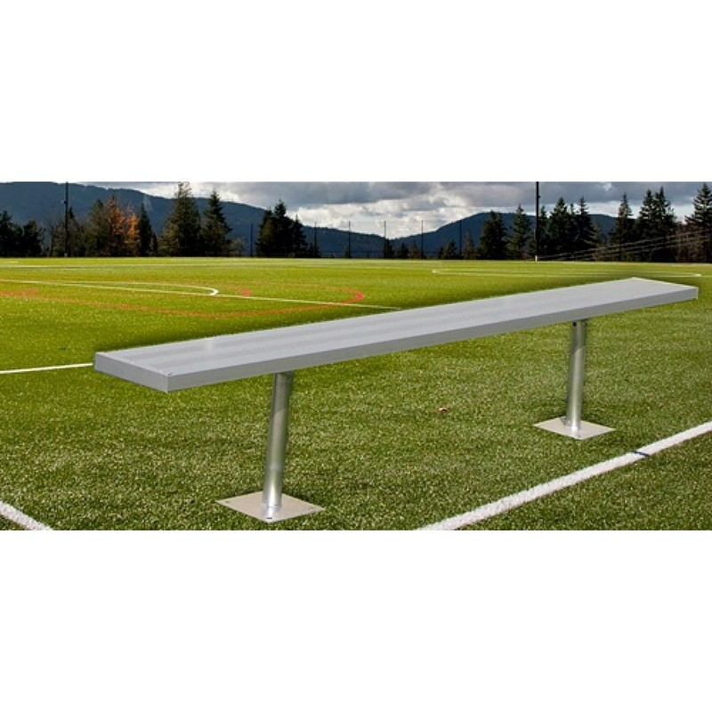 "Gared 7' 6"" Spectator™ Bench without Back, Surface Mount (BE08SM)"
