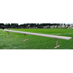 "Gared 7' 6"" Spectator Bench without Back, Portable (BE08PT)"