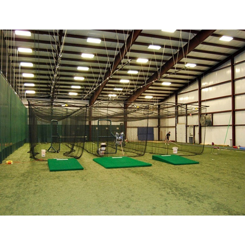 """Gared Batting Cage 10'H x 12'W x 55'L With 1-3/4"""" Square Mesh Net (4081-55)"""