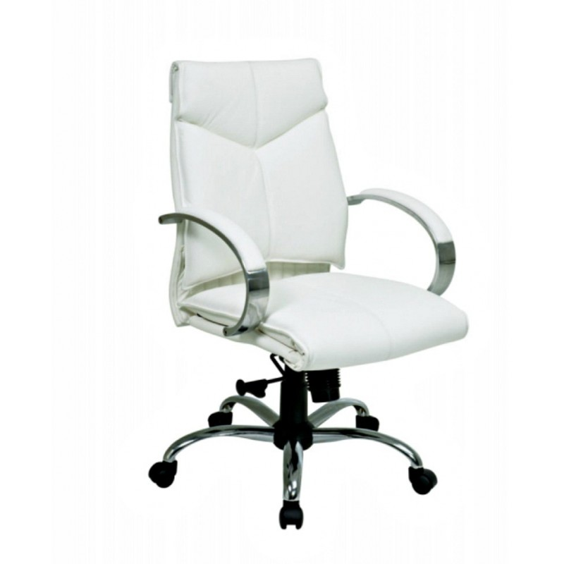 Pro Line II Deluxe Mid Back Chair - White (7271)
