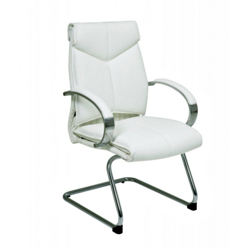Pro Line II Deluxe Mid Back Visitors Chair - White (7275)
