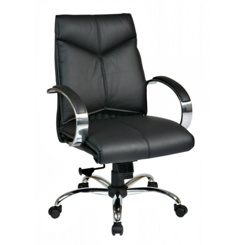Pro Line II Deluxe Mid Back Chair - Black (8201)