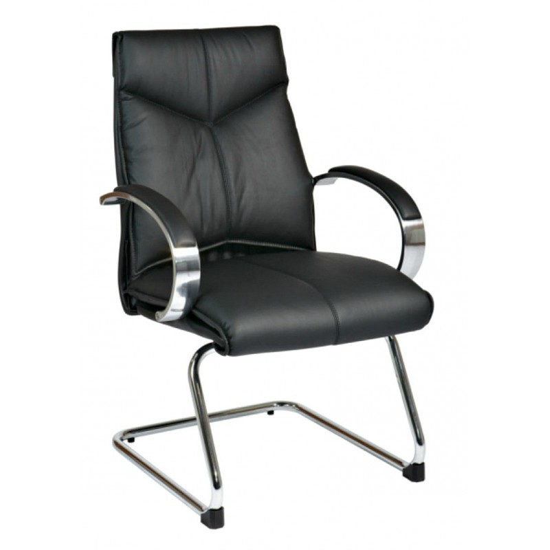 Pro Line II Deluxe Mid Back Visitors Chair - Black (8205)
