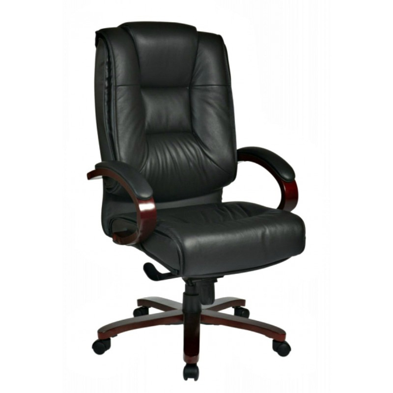 Pro Line II Deluxe High Back Executive Leather Chair - Black Mahogany (8500)