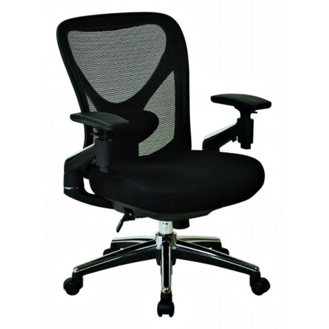 Pro Line II ProGrid Mesh Back Managers Chair with Mesh Seat - Black (27283)