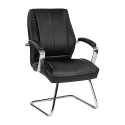 Pro Line II Deluxe Mid Back Executive Visitors Chair - Black (60315)