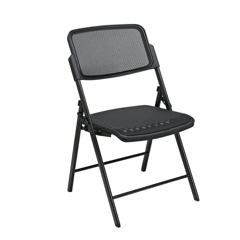 Pro Line II Deluxe Folding Chair With Black ProGrid Seat and Back (81308)