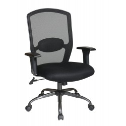 Work Smart Screen Back Chair with Mesh Seat - Black (583713)