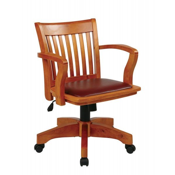furniture office chairs osp designs deluxe wood banker 39 s c
