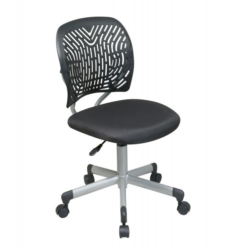 OSP Designs Designer Task Chair in Black Fabric and Plastic Back (166006-3)