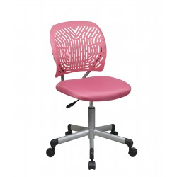 OSP Designs Designer Task Chair in Pink Fabric and Plastic Back (166006-355)