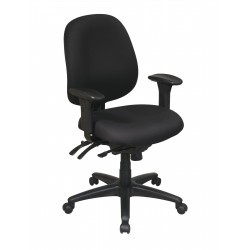 Work Smart Mid Back Multi Function Ergonomics Chair (43891-231)