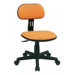 OSP Designs Student Task Chair in Orange Fabric (499-18)