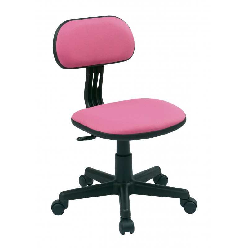 OSP Designs Student Task Chair in Pink Fabric (499-261)